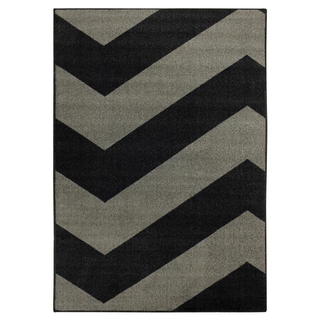 Area Rug - Tendance - Nylon - 4' x 6' - Grey/Black