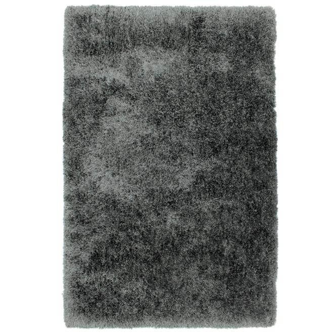 Tapis décoratif Monti, 4' x 6', gris foncé
