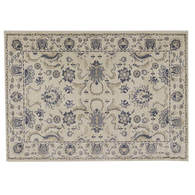 "Tapis décoratif en polyester Brocade, 5'3"" x 7'5"", coquille"