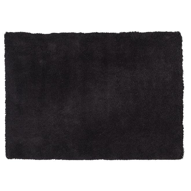 """Tapis décoratif en polyester Maine, 5'3"""" x 7'5"""", noir"""