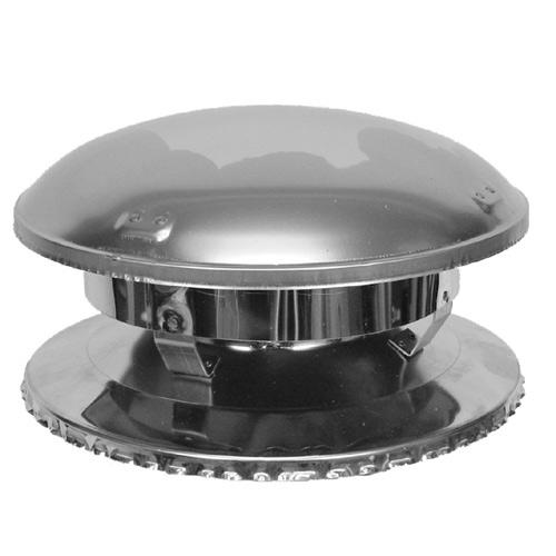 "Chimney Cap - Round - 7"" - Stainless Steel"