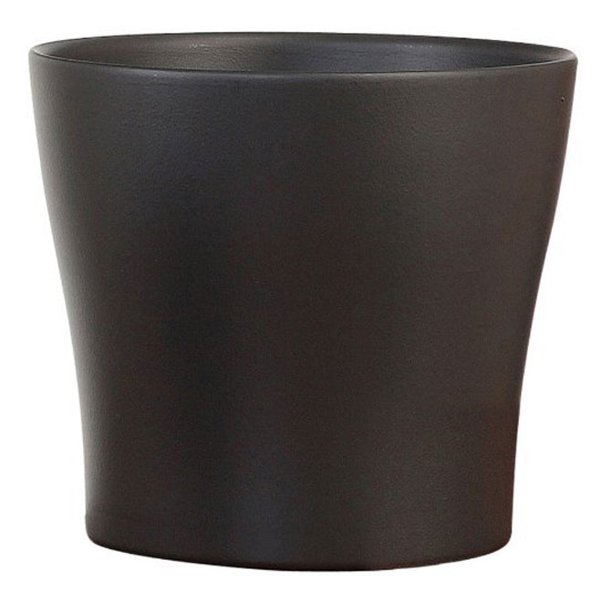 Cache-pot « Anthrazit » en céramique 6 po, gris anthracite