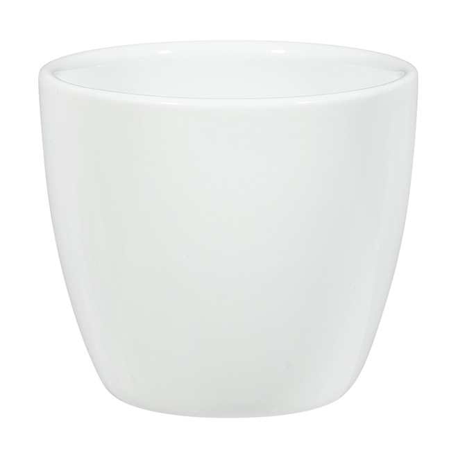 Mini jardinière en céramique, 2,75 po, blanc Alaska