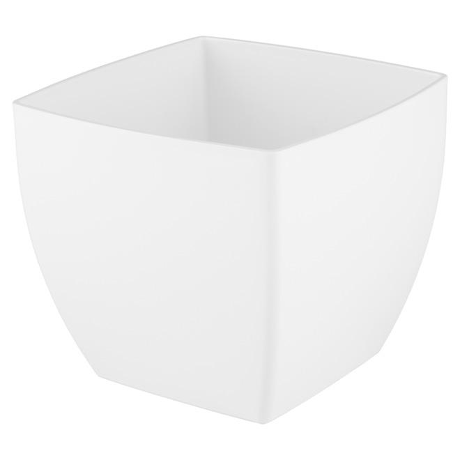 Cache-pot en plastique «Siena» 14cm - Blanc