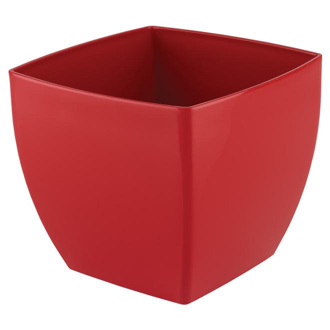 "Plastic Pot Cover ""Siena"" 14cm - Red"