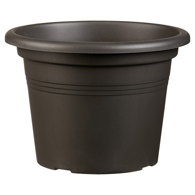 "Planter Pot - ""Cilindro"" - 9.8"" - Anthracite"