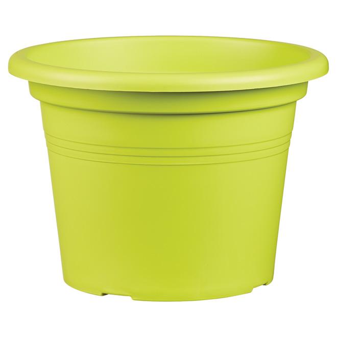 "Planter Pot - ""Cilindro"" - 9.8"" - Green"