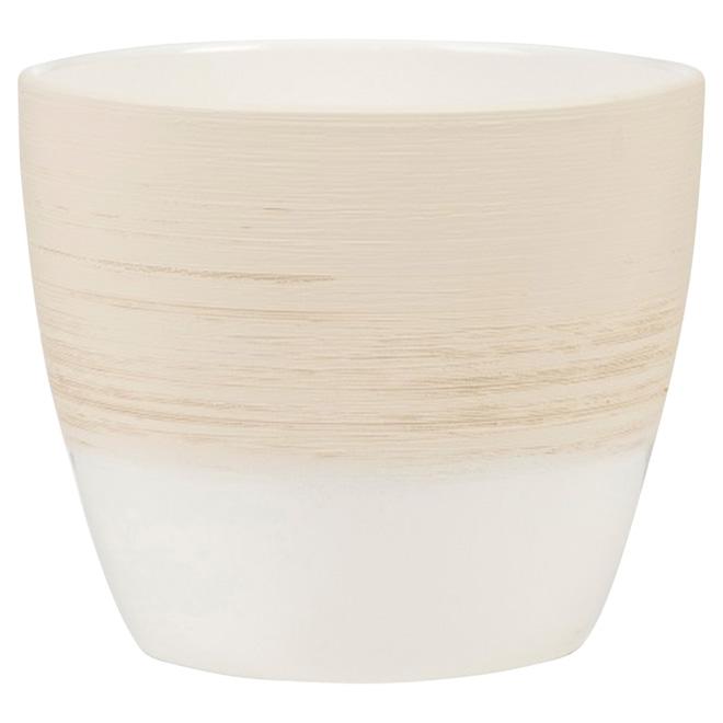 Pot en céramique «950», 6,3po, vanille