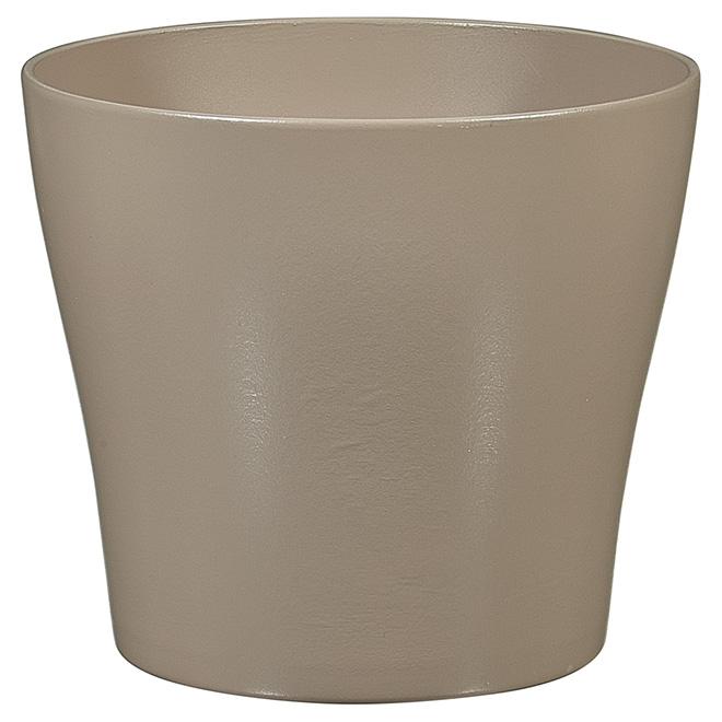 Cache-pot en céramique, 8 po, taupe