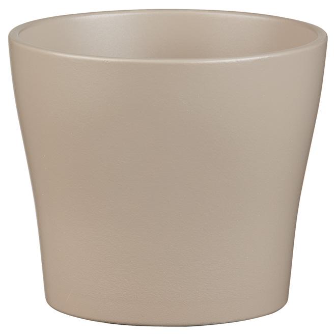 Cache-pot en céramique, 5 po, taupe