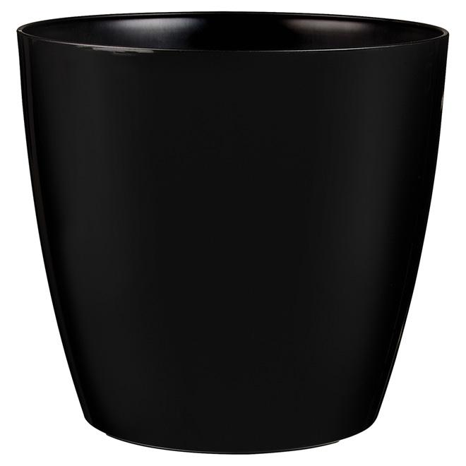 Cache-pot sur roues « San Remo », 14 po, noir