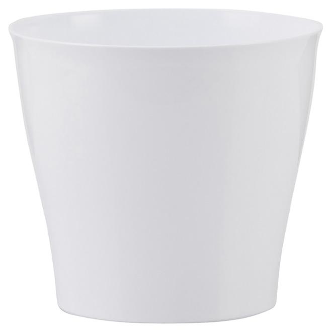 """Cache-pot en plastique, 5"""", blanc"""
