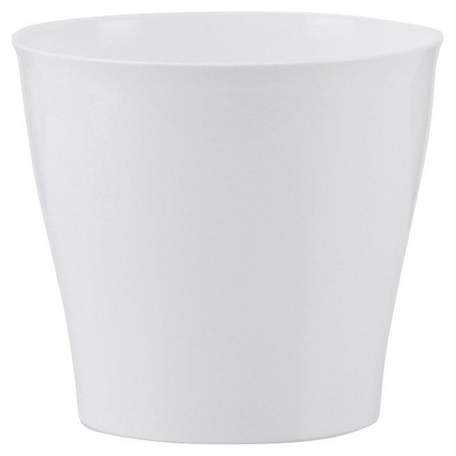 "Plastic Pot Cover - 5"" - White"