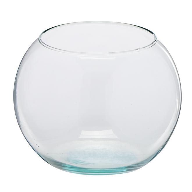 "Vase sphérique en verre transparent, 5"""
