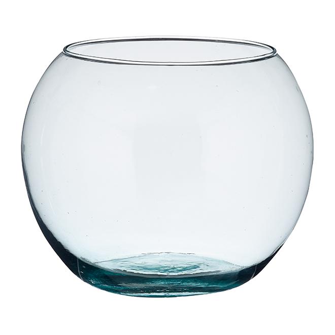 "Vase sphérique en verre transparent, 8"""