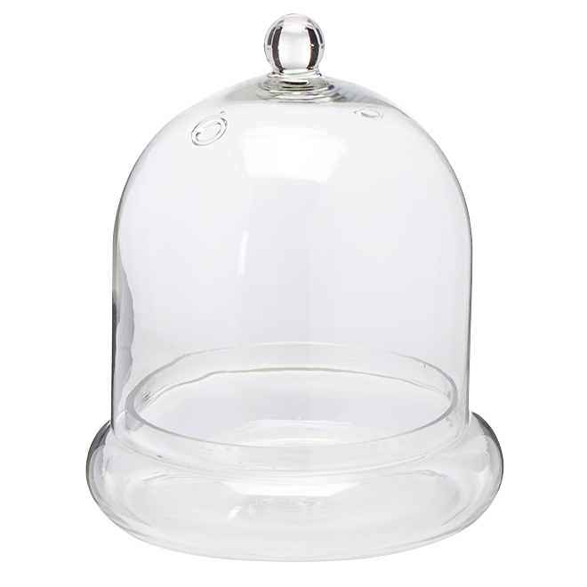 Bell Clear Glass Vase - 7""