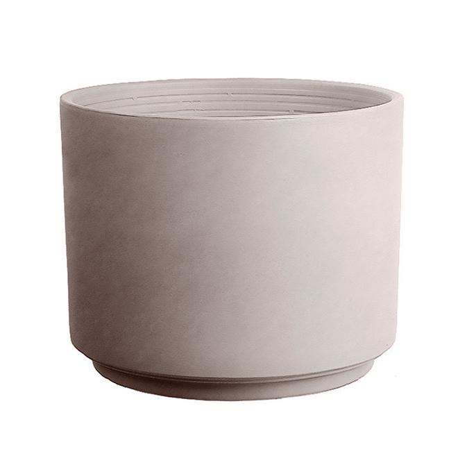 """Pot cylindrique en grès, 5,90"""", grège"""