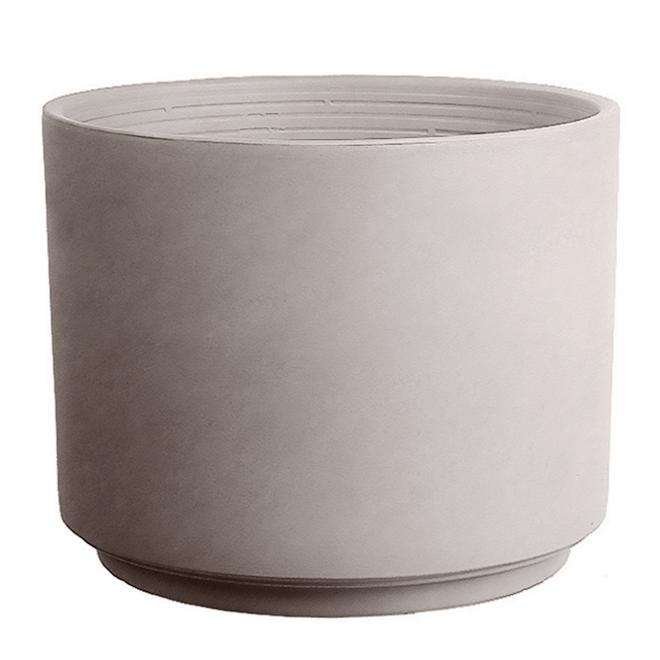 "Clay Cylinder Pot - 11.8"" - Greige"