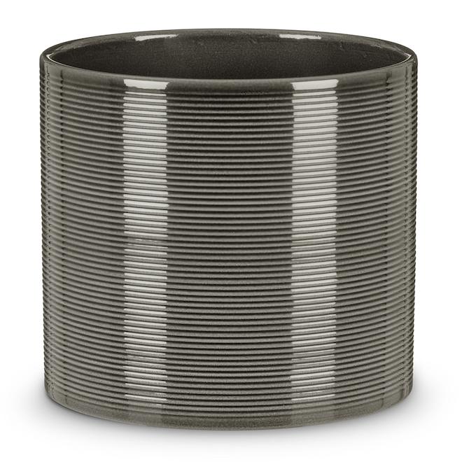 Scheurich 828 Pot Cover - 28 cm - Ceramic - Grey