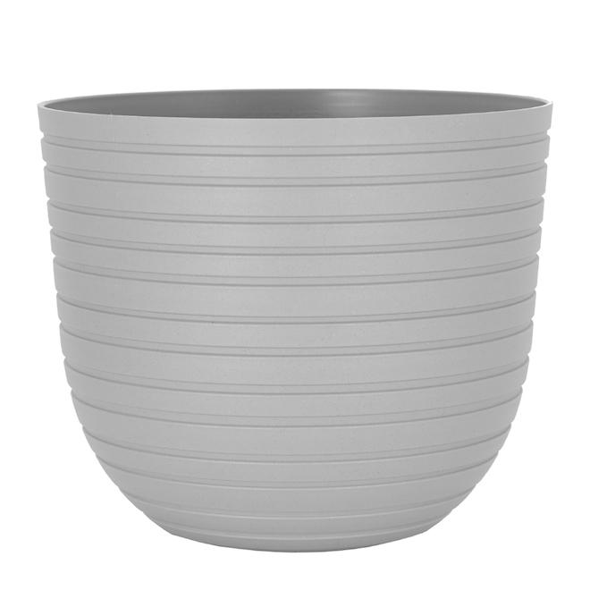 Flower Pot 'Havana Horizon' - Plastic - 11.8'' - Limestone