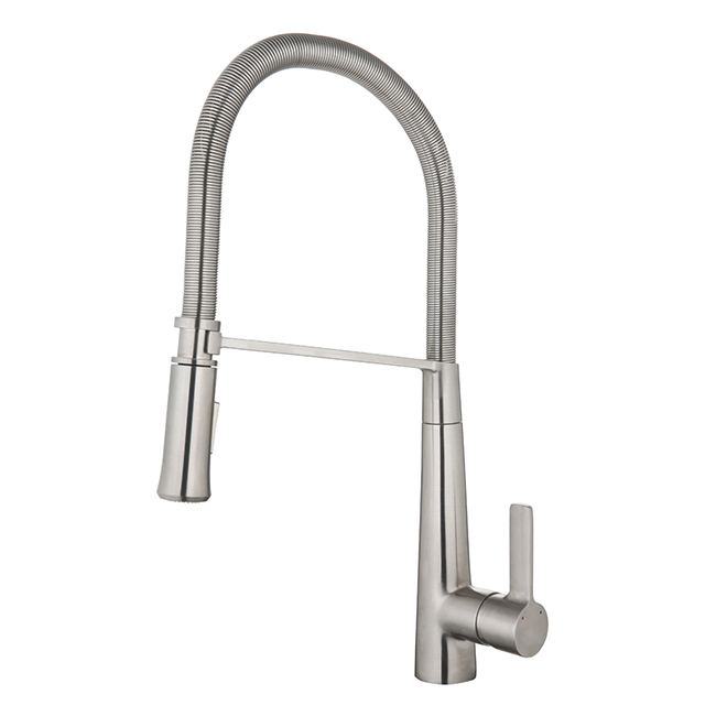 Retractable Kitchen Faucet - Flexible Hose - Stainless Steel
