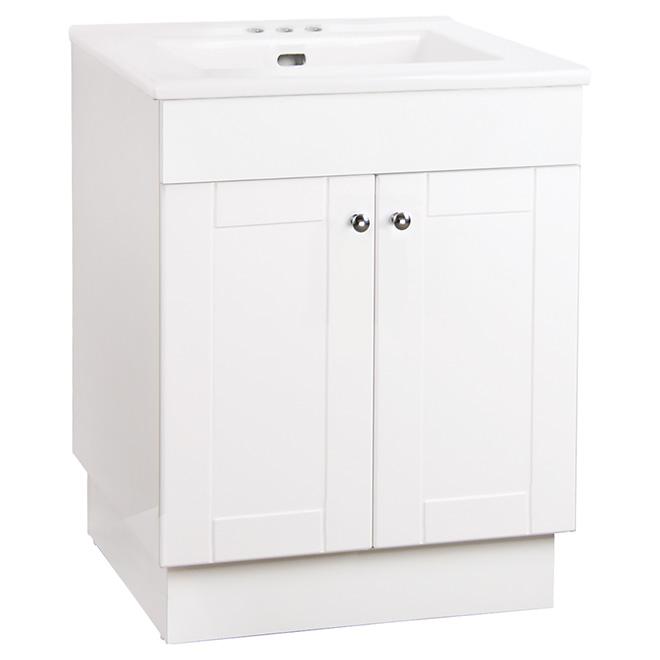 Vanity and Countertop - 2 doors - 24'' - Gloss White