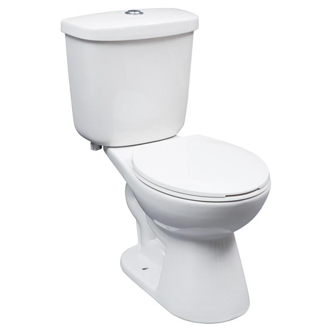 Toilettes à cuve ronde, 2pièces, 4,6 l, blanc
