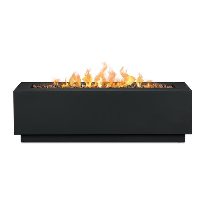 Real Flame Outdoor Fireplace Lanesboro - Propane Gas - 48-in - 50,000 BTU - Black Matte