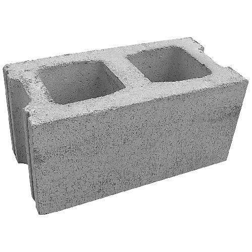 "Standard Concrete Block - 10"" x 16"" x 8"""
