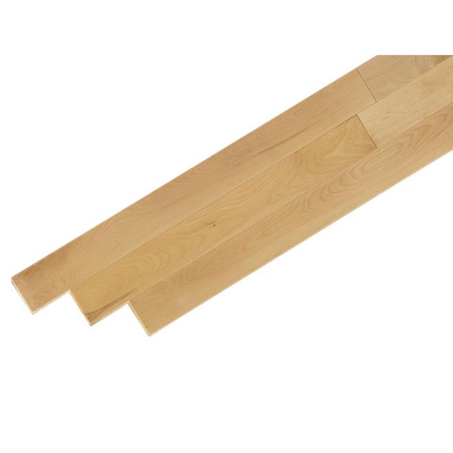 Plancher de bois franc en érable, naturel