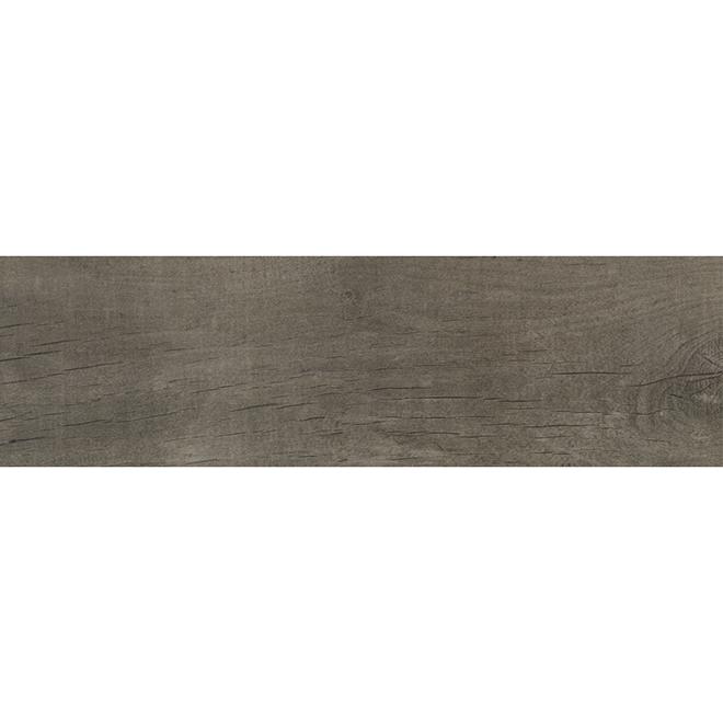 """Mono Serra Porcelain Tile - 7"""" x 24"""" - 20.45 sq. ft. - Grey"""