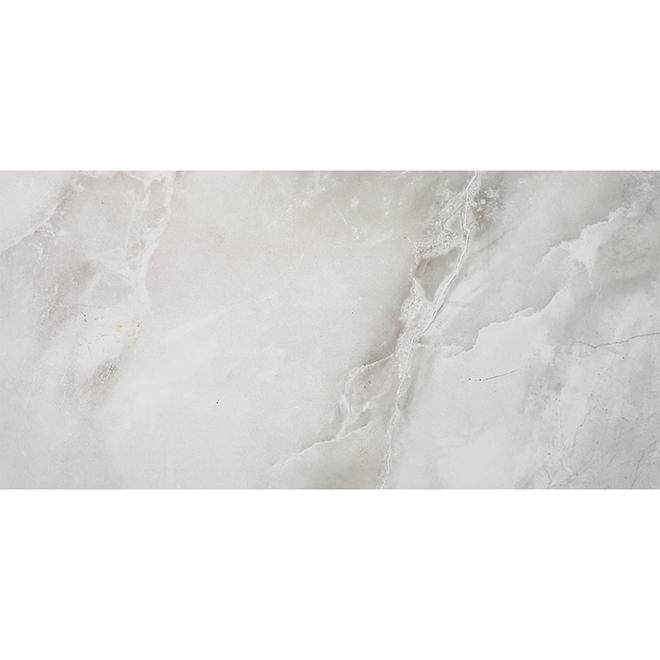 """Tuile de porcelaine, 12"""" x 24"""", 15,5 pi², gris lustré"""