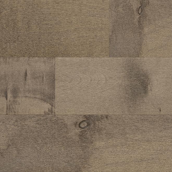 Plancher bois franc, Mono Serra, merisier, brun gris