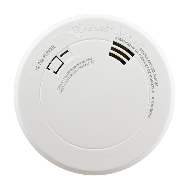 First Alert Avertisseur fumée/monoxyde carbone, alerte vocale