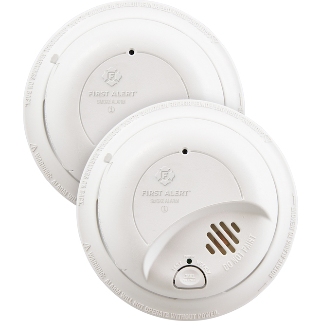 Ionization Smoke Alarm - 120 V Hardwired - 2/Pack