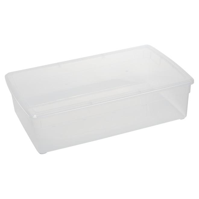 organize it bac de rangement sous le lit 37l clair stpc27160601 r no d p t. Black Bedroom Furniture Sets. Home Design Ideas