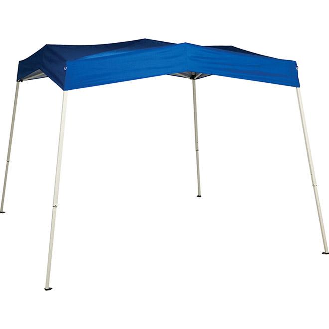 Abri-soleil sport, 8pi x 8pi, bleu/blanc