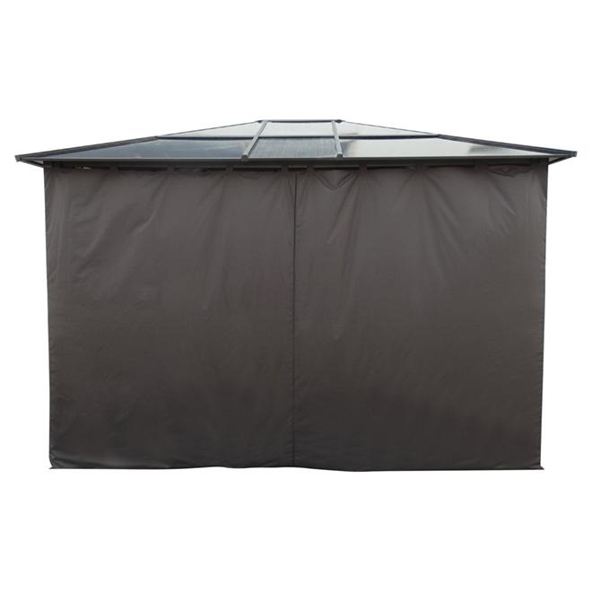 10' x 12' Sun Shelter Curtain - Dark Brown