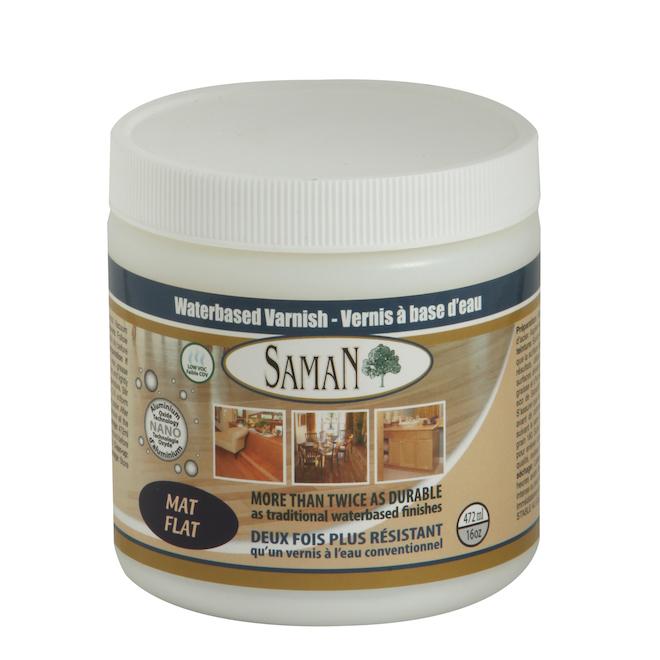 Saman Water-Based Interior Finish - 472 ml - Mat - Clear