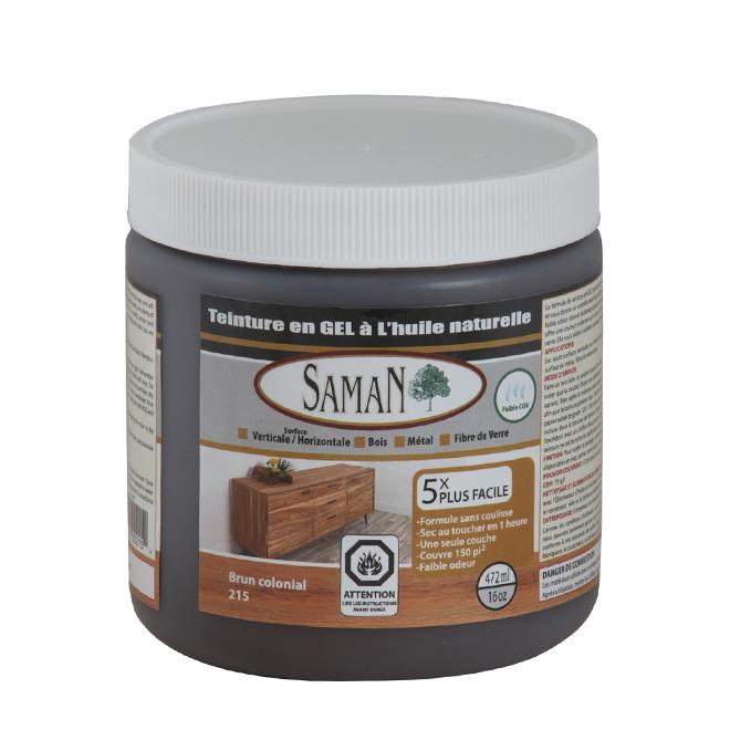 Teinture en gel à l'huile naturelle, 472 mL, brun colonial