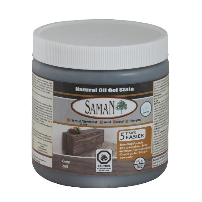 Natural Oil Gel Stain - 472 mL - Grey