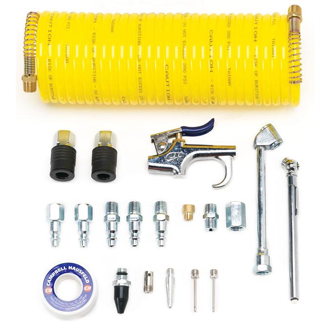 Ensemble d'accessoires pour compresseur d'air de 20 pièces