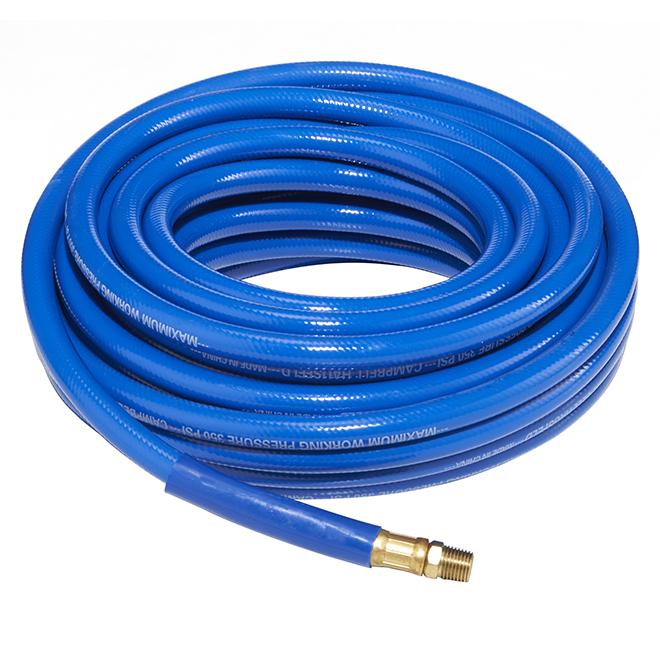 """PVC Air Hose for Compressor - 3/8"""" x 50' - Blue"""