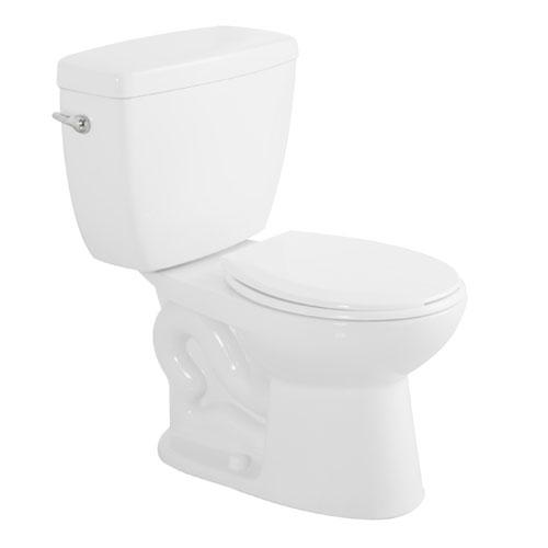 Toilette 2 pièces à cuve ronde, Minuet, 6 l, blanc