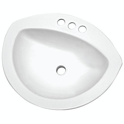 Lavabo oval encastré « Cairo »