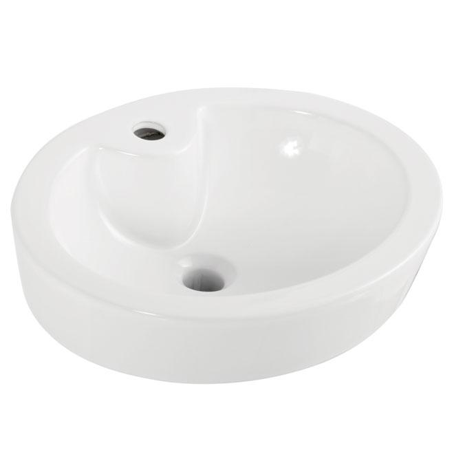 """Vasque ovale en porcelaine, 18 3/8""""x15""""x6 5/8"""""""