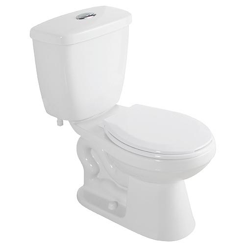 Toilette 2 pièces à cuve ronde, 4 l/6 l, blanc
