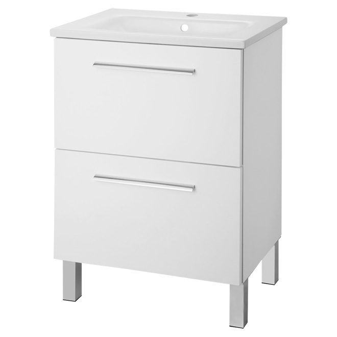 FOREMOST Meuble lavabo 2 tiroirs DEWV2415 | Réno-Dépôt