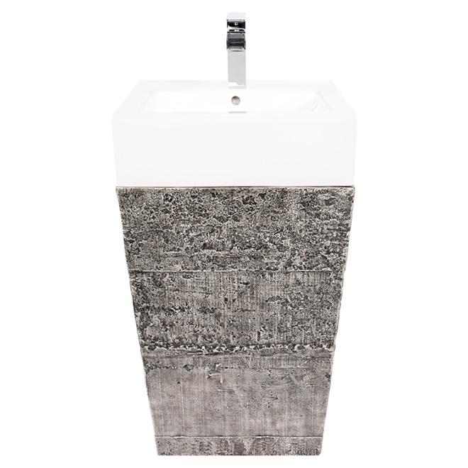 """Lavabo sur socle, Avilion, 20"""", fini ciment"""