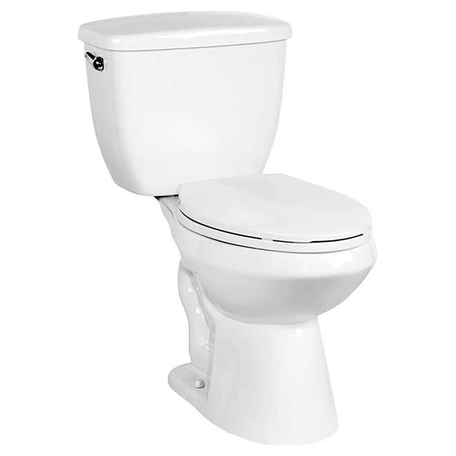 Toilette 2 pièces à cuve allongée, Jaxton, 3,8 L, blanc